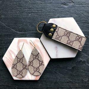 AUTHENTIC Repurposed Gucci Teardrop Earrings